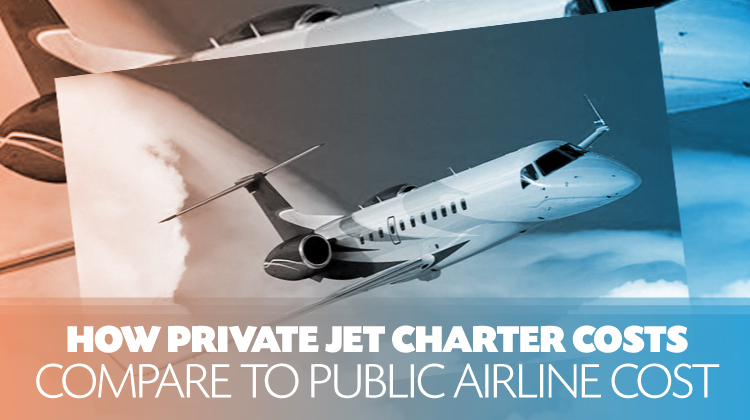 How Private Jet Charter Costs Compare to Public Airline Costs